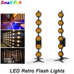 Sześć linii Hexa pikseli światła LED Retro Flash światło sceniczne na imprezę wakacje kolorowe oświetlenie sceniczne dj laserowe efekty mycia projektora