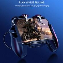 Pubg コントローラ携帯ゲームゲームパッドクーラー冷却ファン火災 pubg 携帯ゲームコントローラーゲームパッドジョイスティック金属 L1 R1 トリガー