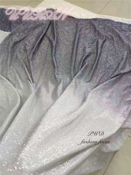 Shining Lace material with glued glitter French tulle net lace fabric for Indian sari dress Sewing African net lace fabric
