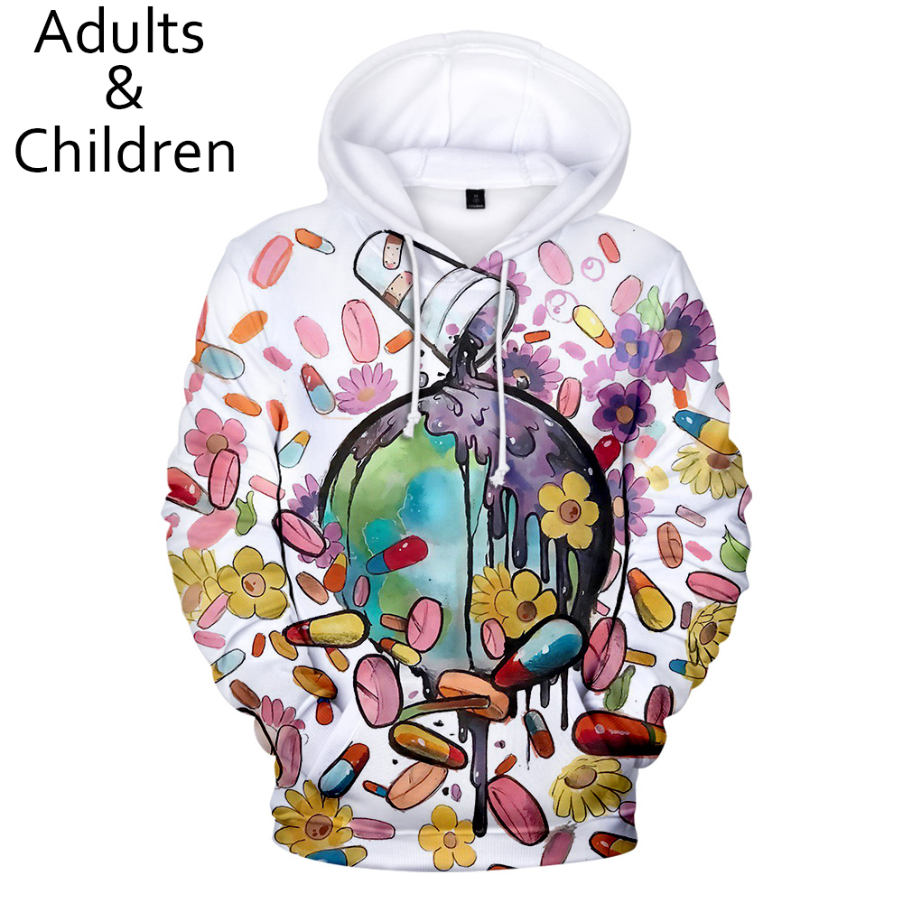 Fashion 3D Juice WRLD Hoodies Men Women Sweatshirts Autumn Harajuku Kids pullovers suitable 3D Juice WRLD boys girls Hooded