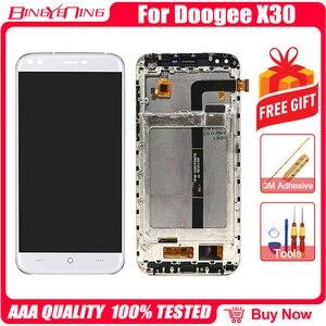 Image 3 - Сменный ЖК экран для DOOGEE X30, 100% оригинальный дигитайзер сенсорного экрана с рамкой, модуль для ремонта