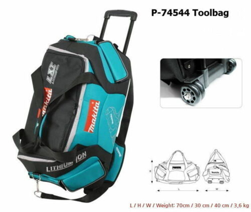 Makita P-74544 Super Heavy Weight Tool Bag With Trolley Cart