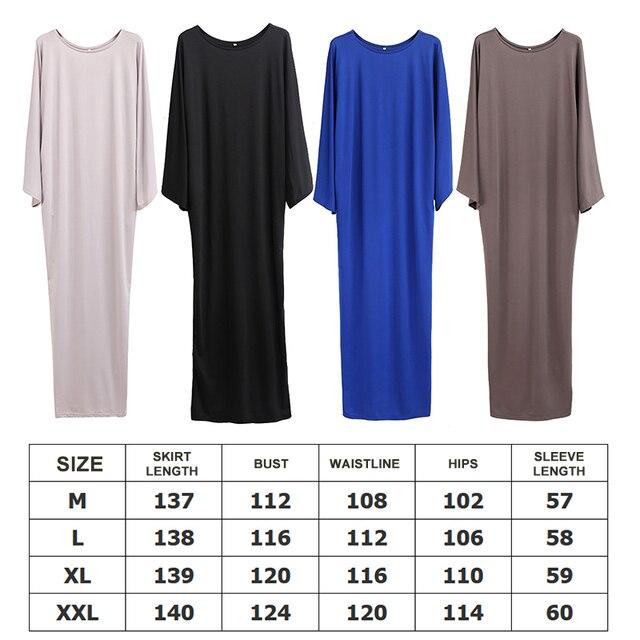 Plus Size muslim clothes Super elastic middle East religion apparel Summer Floor Length long dress Loose Muslim dress  women 6