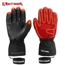 Kutaked лыжные перчатки с электрическим подогревом usb перезаряжаемые