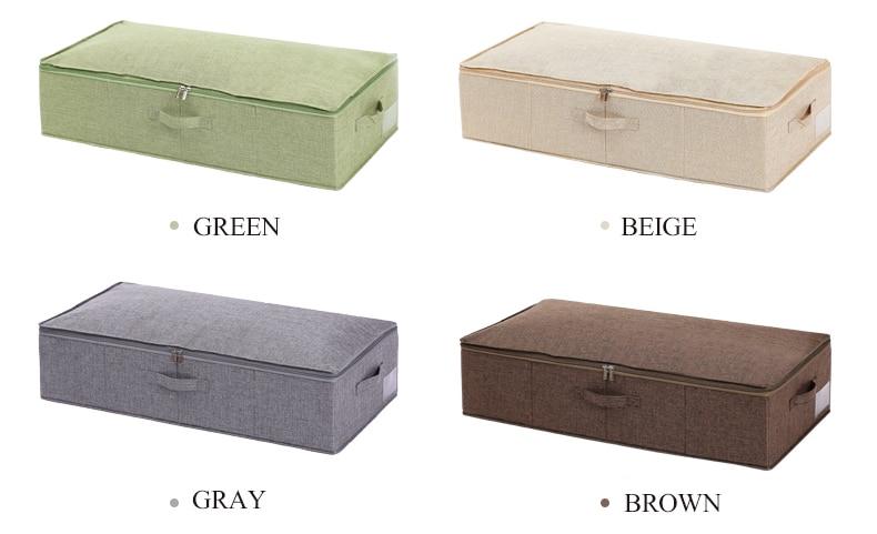 Roupa de cama dobrável underbed sapato armazenamento