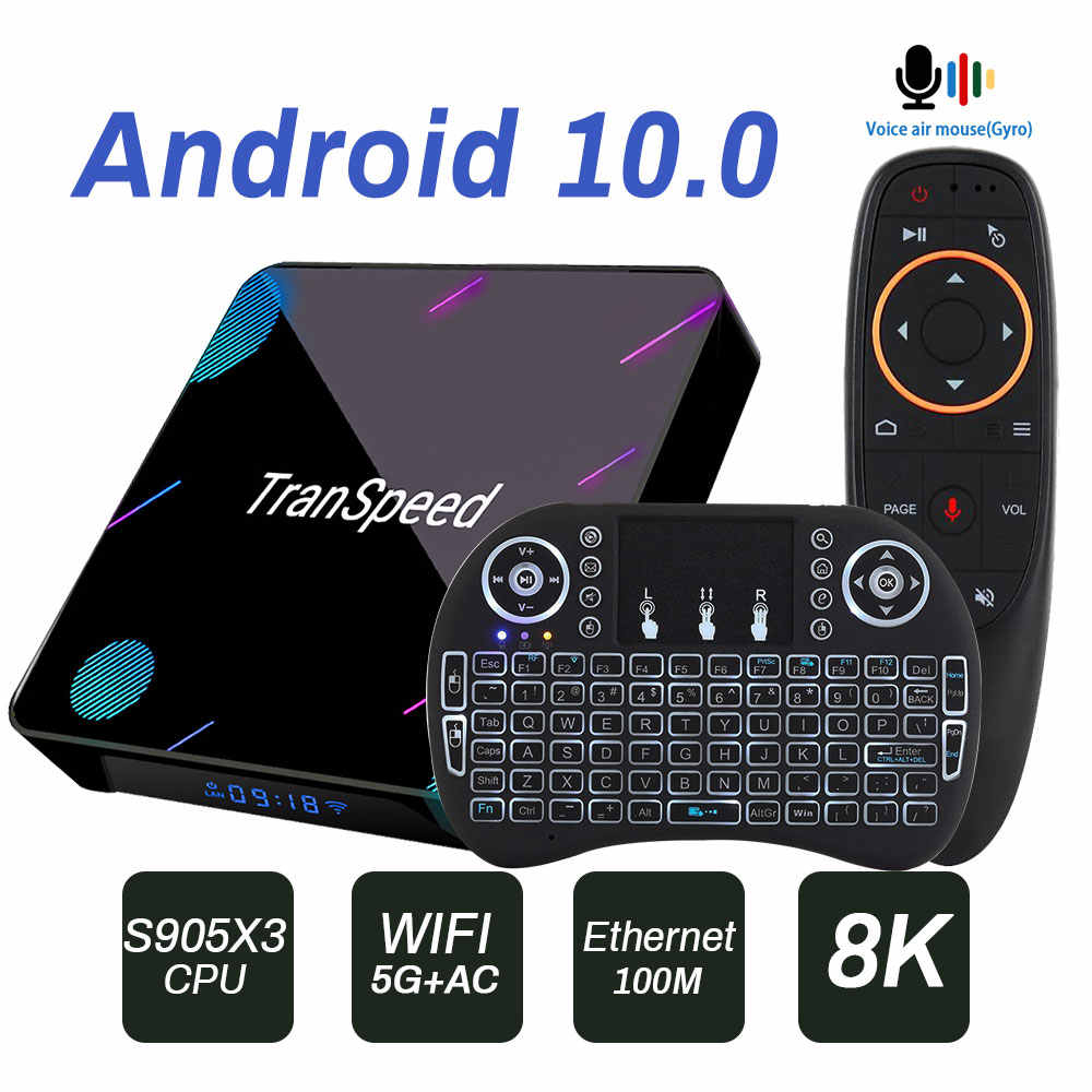 Amlogic S905X3 Android 10.0 Tv Box Wifi 1000M Bluetooth 8K Bluetooth Voice Assistan Set Top Box