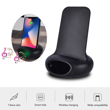 10W QI Wireless Charger Moblie Phone Charging Holder Music Charge Stand with Sound Amplifier for iPhone Samsung Huawei Xiaomi