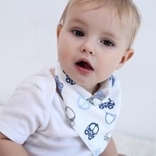 New Baby Saliva Towel Triangle Cotton Newborn Double-layer Buckle Bib Children Scarf Cartoon