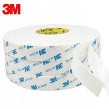 5 medidores/rolo 3m fita de montagem forte dupla face adesivo espuma almofada fita adesiva espessura branca 1mm