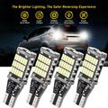 12V T15 светодиодный светильник 921 912 W16W 45SMD 4014 светодиодный Canbus без ошибок автомобиля резервного копирования стоп резервный светильник s лампо...