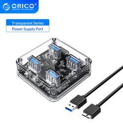 Прозрачный USB HUB на 4 порта  Есть доставка со склад в России