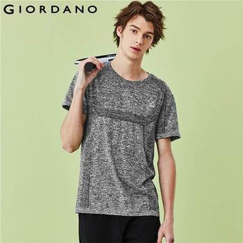 Giordano Men T Shirts Printed Logo Crewneck Tee Moisture Absorbing Breathable Short Sleeves Camiseta Masculina 01029207