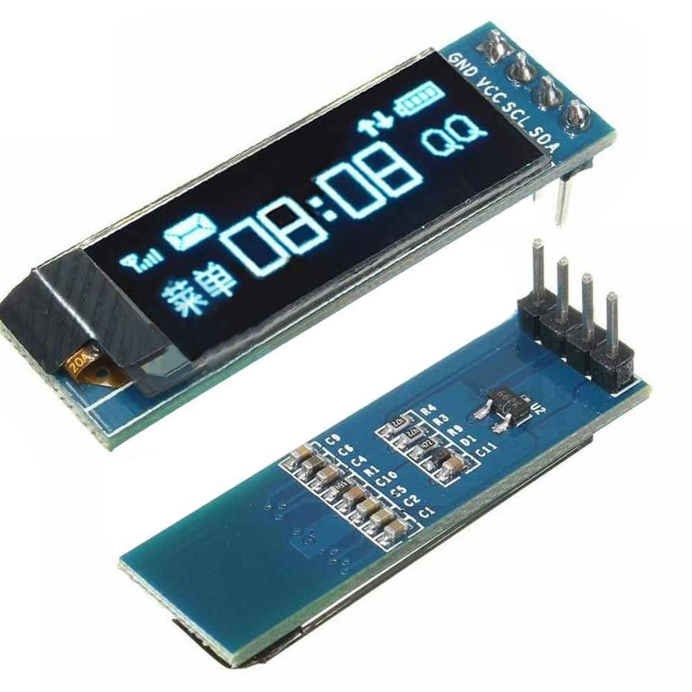0.91inch OLED Module White/blue 128 x 32 OLED LCD LED Display Module IIC Communicate For Ardunio