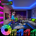 Suntech LED Light Strips, Bluetooth Music Sync Color Flexible RGB 5050 Diode Tape,Led Lights Built-in Mic For Party,Christmas