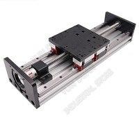 100MM 1000MM Stroke Heavy Load Slide table Platform Double Guide Rail HGR20 4PCS Slider 20MM Sliding Linear module Ballscrew CNC