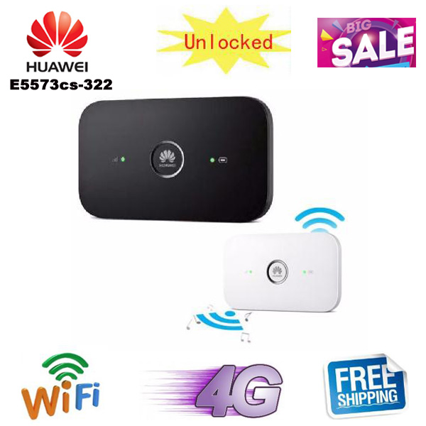 US $37 04 5% OFF|Original Unlocked Huawei E5573 E5573cs 322 CAT4 150Mbps 4G  LTE FDD Wireless Router 3G Mobile WiFi Hotspot-in Modem-Router Combos from
