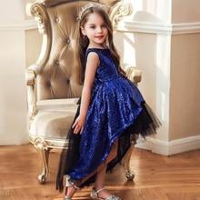 цены Summer Girl Dress Sequined Tutu Children Kids Dresses For Girl Birthday Dresses Girl Formal Wedding Party  Swallow Tail Clothing