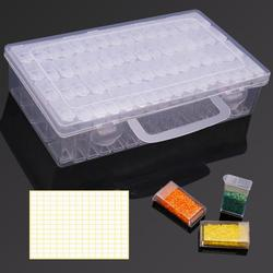 Diamond Painting Storage Box with 64 Grids Portable Bead Storage Container 5d Diamond Embroidery Accessories Tools