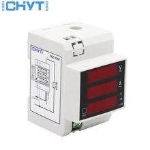 Многофункциональный светодиодный цифровой измеритель на din