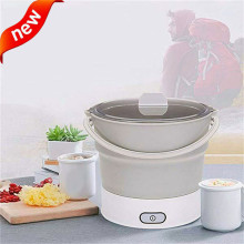 Folding electric skillet Foldable Electric Portable Hot Pot Cooker Kettle Steamer Boil Dual Voltage A1