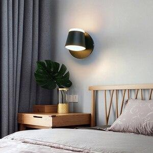Image 3 - 360 조정 가능한 LED 벽 램프 머리맡 조명 통로 벽 마운트 Luminaire Sconce 현대 호텔 벽 조명