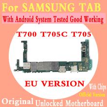 100 oryginalna płyta główna dla Samsung Galaxy Tab S 8 4 SM-T700 T705 T705C 3G RAM odblokowany płyta główna z chipami logika pokładzie tanie tanio TDCYHHX Wewnętrzny For Samsung Galaxy Tab S 8 4 T700 T705 T705C 100 Original Full QC Tested Original Disassemble Unlocked and used