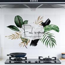 Kitchen Self-adhesive High Temperature Anti-oil Stickers Household Waterproof Cupboard Sticker Decorative