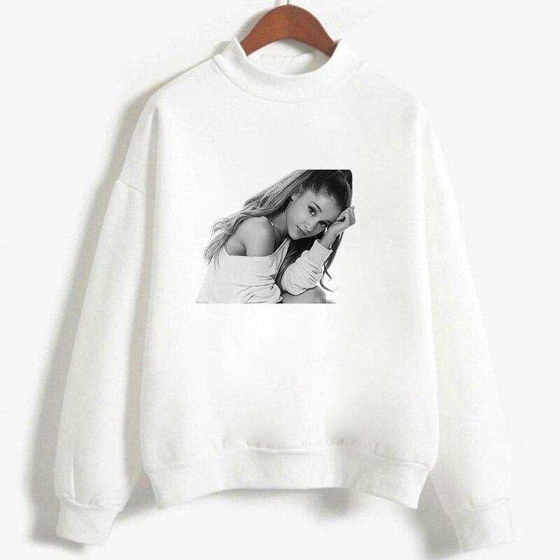 Ariana Grande Album Thank U Next Print Harajuku Vogue Long Sleeve Shirts Hip Hop Streetwear Women's Hoodies Pullover Tops