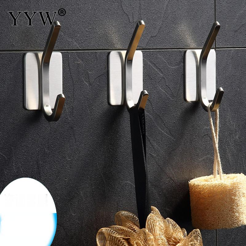 Kitchen Bathroom Tower Clothes Suction Cup 5-hook Wall Hanger Hanging Rack