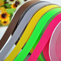 10yards (9meters) 100% Polyester Solid Colors Grosgrain Ribbons for Wedding Party House Room Decoration Christmas DIY Gifts
