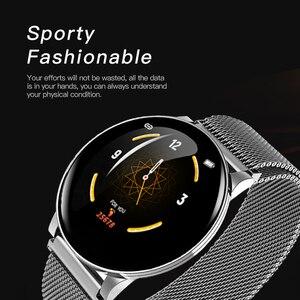 Image 4 - Gosear reloj inteligente con control del ritmo cardíaco y de la presión sanguínea para hombre y mujer, pulsera inteligente con Bluetooth para Apple IOS y Android