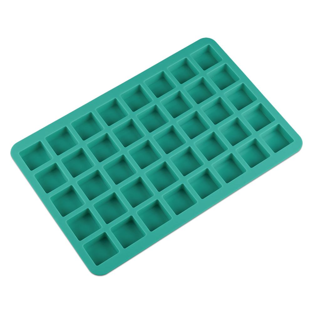 Silicone 40 Holes Mini Square Shape Cube Mold For Ice Cake Tray Cubes Candy Chocolate Pudding Jelly Party Whisky Tools 40DC16