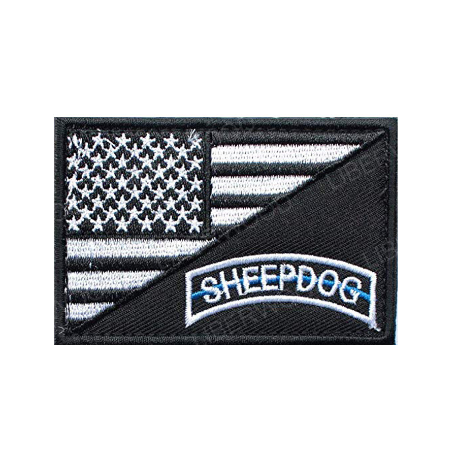 USA American Flag Sheepdog Tactical US Army Morale Insignia Bordada Patch ES