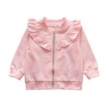 Spring Autumn Toddler Girl Long Sleeve Zipper Sweatshirt Casual Kids Outerwear C