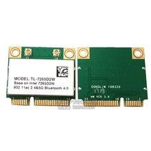 Ноутбук Беспроводной карты MC-AC7265 Половина Mini PCI-E Wi-Fi карты Bluetooth 4,2 802.11ac Dual Band 2,4G Wi-Fi 5 ГГц креплением для вспышки sрeedlite