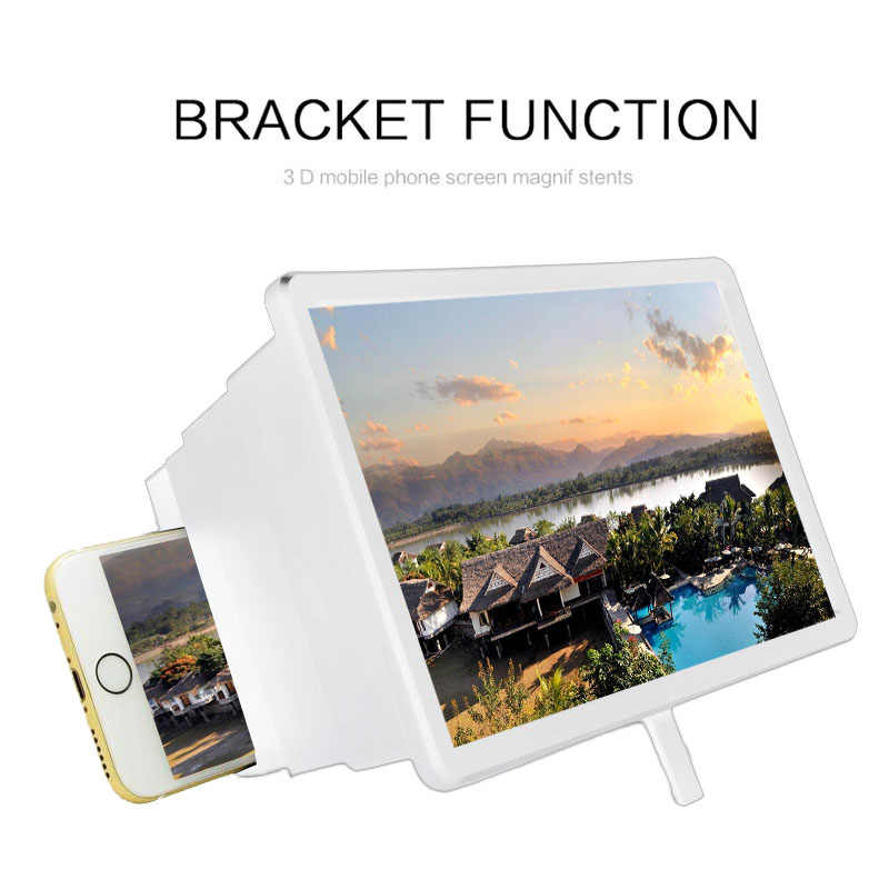 3D Retractable Layar Amplifier Portable Diperbesar Layar HD Film Pemegang Telepon Magnifier Folding Bracket Display Expander Berdiri