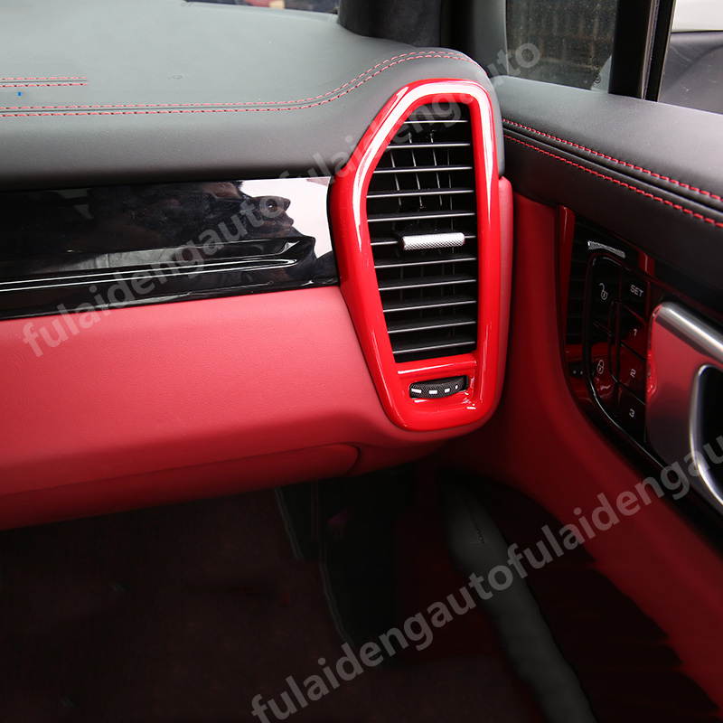 Red Interior Upper Air Vent Outlet Cover Trim 2pcs For Porsche Cayenne 2019 Lawrensongroup Co Nz