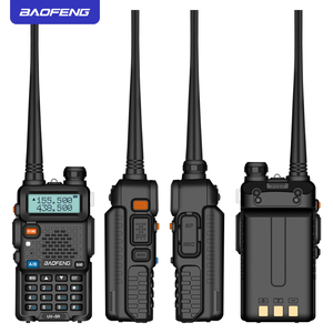 Image 4 - BAOFENG UV5R Walkie Talkie 5W UHF/VHF dual band two way radio 1800mAh battery capacity Ham Radio with keyboard ship from Moscow