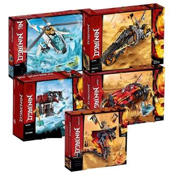 In Stock new Ninja Series Bricks Fire Fang Compatible Lepining Ninjago 70674 70671 70672 Building Blocks Toys for Kids Gift