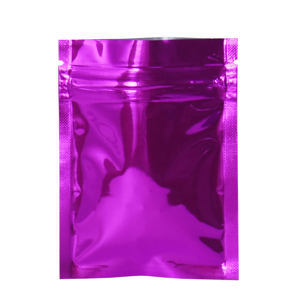 100Pieces Purple 7 5x10cm Ziplock Mylar Storage Bag Aluminum Foil Packing Bags Vacuum Food Packaging Bag Resealable Zipper Bags in Storage Bags from Home Garden