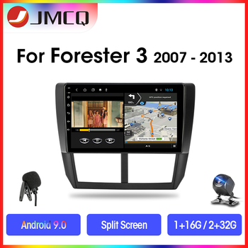 JMCQ Android 9.0 Car Radio For Subaru Forester 3 SH 2007-2013 Multimedia Player GPS Navigaion 2 Din 2G+32G DSP RDS Split Screen