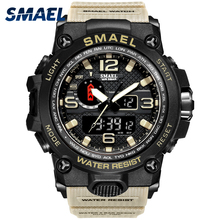 Relógio militar masculino, relógio a prova dágua 50m, relógio quartzo de LED, relógio esportivo masculino, relogios masculinos, 1545 relógio esportivo masculino S Shock