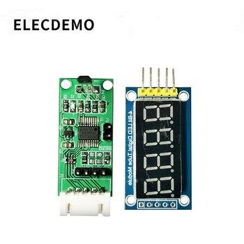 цена на Hall sensor module Digital display magnetic field induction intensity detection bare board Modbus and AT protocol