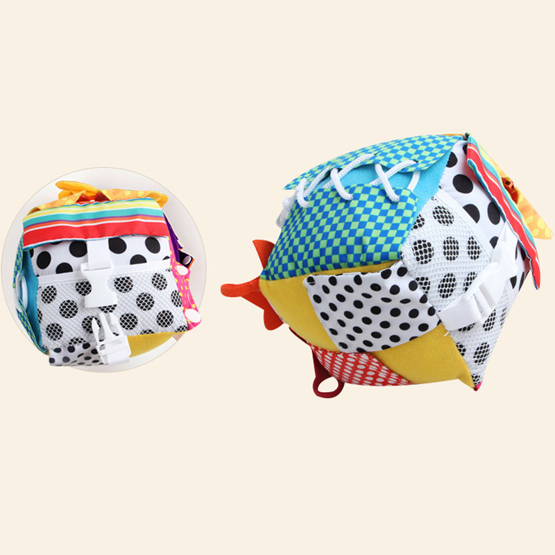 High Quality Baby Learning Dress Cube Learning Toys Toddlers Early Education With Lace Button Zip Snap Buckle