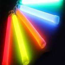 5 шт./лот 6-дюймовые разноцветные светящиеся палочки, химические световые палочки для кемпинга, аварийного украшения, вечерние принадлежнос...