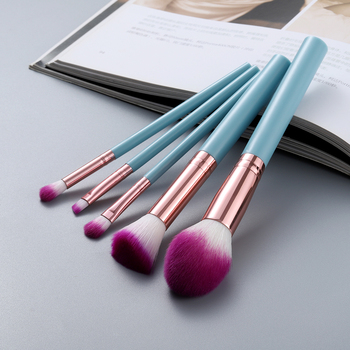 FLD 5pcs Kabuki Makeup Brushes Set Foundation Powder Small Eye Shadow Eyebrow Blending Concealer Cosmetic Brush Kit Professional 3