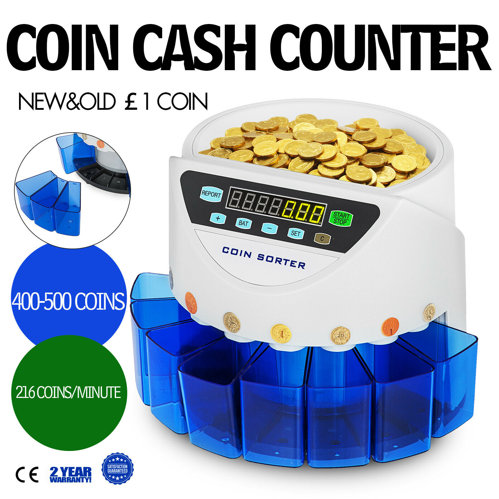 Automatic Coin Counter Sorter GBP Counting Machine