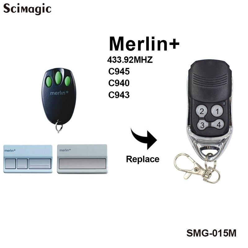 3 Pieces Merlin + C945 C943 C940 Compatible Garage Gate Remote Control 433mhz