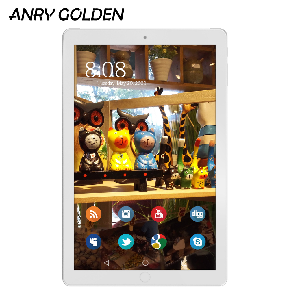 ANRY A1008 10 Inch Tablet 1280 X 800 4G Phone Call Tablet MT6737 Quad Core 2GB RAM 64GB ROM Android 8.1 Tablet Pc