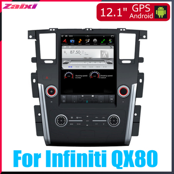 ZaiXi Android Car Multimedia GPS For Infiniti QX80 2013~2018 Radio vertical screen tesla screen Radio Video USB DAB+ image